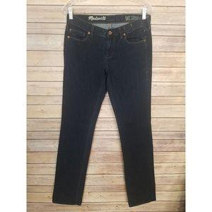 Madewell Rail Straight Jeans Dark Blue Wash Sz 28